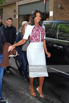 Gabrielle Union attends 'Live with Kelly and Michael' at the ABC studio on October 13, 2015 in New York City.