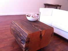A table we had made from a reclaimed barn beam.