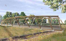 Footbridge over RER tracks
