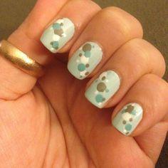 China glaze refresh mint nail art dots