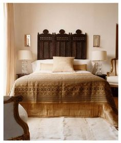 Moroccan Headboard Rustic Wood Panels Used As A Very Marrakesh With The