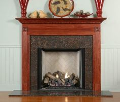 highlander wood mantel standard sizes