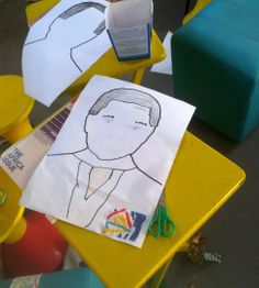 Mandela Day 2013: drawing Madiba in the Blikkiesdorp container library