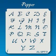 AL-UPP Pepper - Alphabet Stencil Uppercase                              …