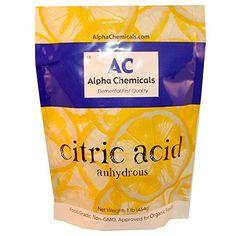 Citric Acid - 1 Pound - Food Grade , Non-GMO, Organic, 100% Pure Alpha Chemicals http://www.amazon.com/dp/B007ZYXPJM/ref=cm_sw_r_pi_dp_z3tewb0ER265B