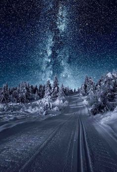 Amazingly clear winter night in Norway