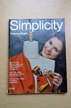 Vintage Simplicity Sewing Book 1969 Soft Cover by PanchosPorch, $5.00