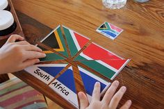 flag puzzles--print a flag image, laminate it, cut it into puzzle pieces, then add it to a kiddo's lapbook