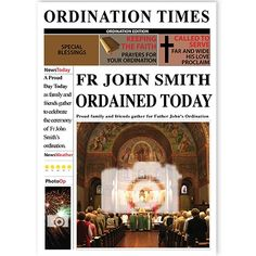 Ordination - QuickClickCards - Your design, your message Keep Calling, Personalized Greeting Cards, Father John, Your Message, Special Occasion, Prayers, Faith, Messages, Day