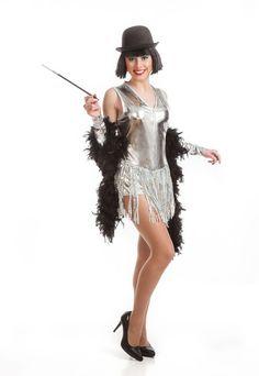 DisfracesMimo, disfraz de cabaret plata barato para mujer talla m/l.Siéntete como una bailarina de can can en los clásicos cabarets del Paris de época con este sexy,.Este disfraz es ideal para tus fiestas temáticas de disfraces de gangsters, años 20 y cabaret para mujer adultos.
