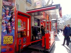 Our shop in Las Ramblas, the most famous street in Barcelona. Come meet us! Barça tickets, stadium tour, concerts, shows and more!