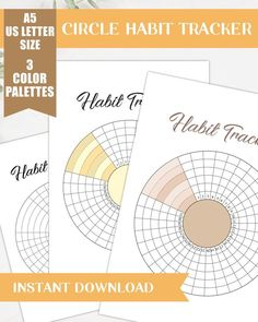 Track your habits efficiently with this printable circle habit tracker. This habit tracker is perfect for bullet journals and planners. You can choose from black and white, yellow and neutrals themes. Plus this comes in two sizes: US Letter and A5. THIS KIT COMES WITH: PDF Instruction 1 ZIP FILE Bullet Journal Tracker, Bullet Journal Mood, Bullet Journal Inspiration, Bullet Journals, Printable Planner Stickers, Journal Stickers, Scrapbook Stickers, Printables, Mood Tracker