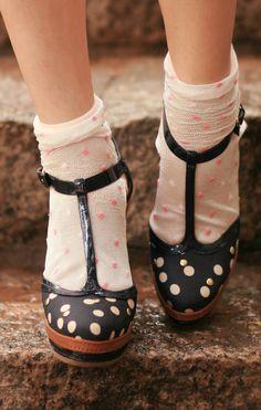 polka dot socks and shoes