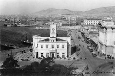 Πειραιάς 1939: To Παλαιό Ρολόι, που ήταν επί της Ακτής Μιαούλη, Βασ. Γεωργίου, Εθνικής Aντιστάσεως, Ακτής Ποσειδώνος.