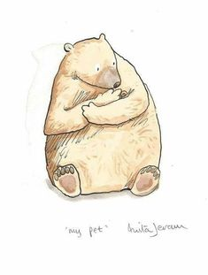 Bear and snail. The Illustration Cupboard Animal Drawings, Cute Drawings, Anita Jeram, Bear Drawing, Bear Art, Children's Book Illustration, Cute Art, Zentangle, Illustrators