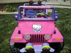 Hello Kitty Power Wheels for Girls | ModifiedPowerWheels.com • View topic - Izabella's Hello Kitty Jeep