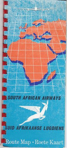 SAA Boeing 747, Vintage Travel, South Africa, 1960s, Aviation, African, Map, Poster, Air Ride