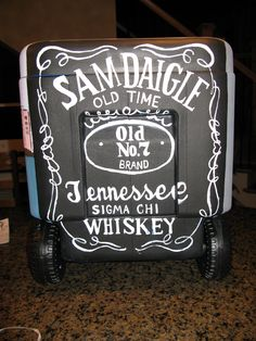 Custom Hand Painted Cooler by SouthernVintageInc on Etsy Hand Painted Coolers, Formal Cooler Ideas, Coolest Cooler, Cooler Designs, Cooler Painting, Frat Coolers, Sorority Crafts, I Cool, Stuff To Do