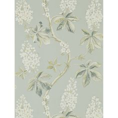 Buy Grey Blue / Sage Sanderson Chestnut Tree Wallpaper from our Wallpaper range at John Lewis & Partners. Wallpaper Online, Print Wallpaper, Fabric Wallpaper, Scenic Wallpaper, Wallpaper Designs, Bedroom Wallpaper, Leaves Wallpaper, Interior Wallpaper, Wallpaper Decor