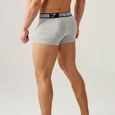 Gymshark Mens Trunks 2pk - Light Grey Marl