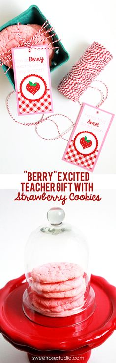Berry Excited Teacher Gift and Tags at Sweet Rose Studio #freebie #printable #BackToSchool