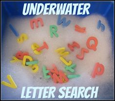 """Underwater Letter Search from Discover Explore Learn"""