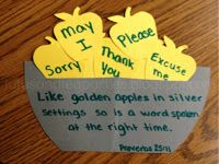 "Unit Lesson Plan | Fall Apples Proverbs 25:11 ""A word fitly spoken is like apples of gold in pictures of silver."""