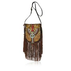 River Island - Fashion Clothing for Women, Men, Boys and Girls Brown Leather Purses, Leather Handbags, Long Strap Purse, Leather Crossbody, Crossbody Bag, River Island Fashion, Dainty Jewelry, Tribal Prints, Leather Shoulder Bag