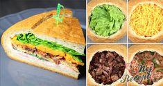 Domácí křehké trubičky s italským sněhem | NejRecept.cz Party Sandwiches, Fingerfood Party, Party Finger Foods, Cheddar, Snacks, Avocado Toast, Hamburger, Menu, Breakfast