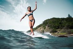 Crossed up and cruising through Byron with Mainei Kinimaka