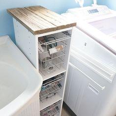 女性で、4LDKのカラーボックス/ネームタグ/続きはブログで。/洗面所DIY/ニトリ/ラック…などについてのインテリア実例を紹介。(この写真は 2017-02-09 21:43:07 に共有されました)