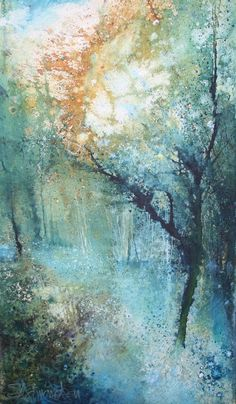 'Magic in the Woods' by Stewart Edmondson 26x43cm mixed media £590 http://www.dart-gallery.com/gallery_detail.asp?id=2429