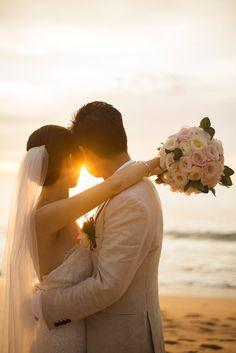 sunsent wedding photography