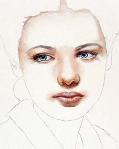 Portrait Step by Step on Watercolor | ARTchat - Porcelain Art Plus (formerly Chatty Teachers & Artists)