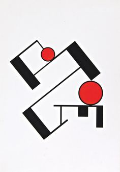 """Erich Buchholz [Germany] (1891-1972) ~ """"Composition"""", 1920. Silkscreen on paper (62 x 43 cm). 