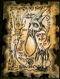 Cthulhu Formulae by MrZarono on Deviant art gallery and to be able Necronomicon Lovecraft, Lovecraft Cthulhu, Necromancer Book, Dark Books, Lovecraftian Horror, Satanic Art, Magic Symbols, Demon Art, Occult Art