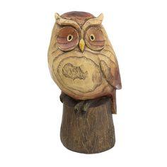 Woodland Friends Hand Sculpted Animal Garden Décor Ornament - Owl in Garden & Patio, Garden Ornaments, Animal Ornaments | eBay