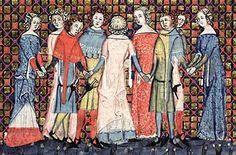 Romans o Aleksandrze, Flandria, 1338-1344  Back detail on pink dress.
