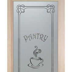 WANT!! Pantry Doors 2/0 x 6/8 1-Lite French Etched Glass Door Frosted