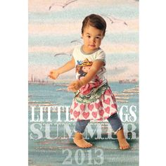 Little Wings Vintage Girl tee and Big Heart shirred skirt