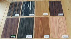 This are our real wood veneers for the picture table. Picture Table, Modern Bar, Blackboards, Wood Veneer, Real Wood, This Is Us, Room, House, Home Decor