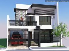 Modern small house design philippines best of modern bungalow house. Zen House Design, Modern Bungalow House Design, Two Story House Design, Modern Small House Design, 2 Storey House Design, Bungalow House Plans, Modern Zen House, Modern House Plans, Kitchen Modern