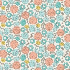 Elizabeth Olwen - Grey Abbey - Whimsy Floral in Egg Blue