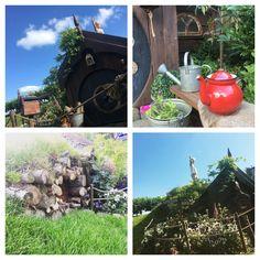 Hobbithouse Hobbitton the Hobbit playhouse backgarden DIY #living roof