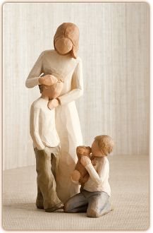 figurines of children | MOTHER with Two Children (2 boys)