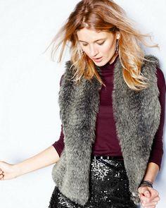 $118 Faux-Fur Vest