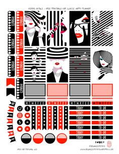 Free Printable Femme Fatale Planner Stickers From Planner OneLove