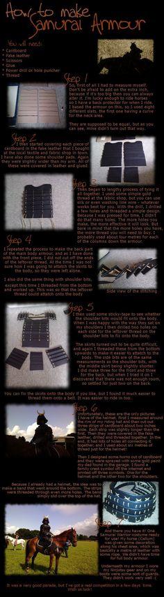 How to make Samurai Armour by kay115.deviantart.com on @deviantART