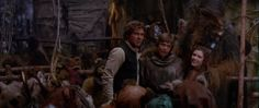 Princess Leia Organa and her friends from Star Wars Episode 6 Return Of The Jedi