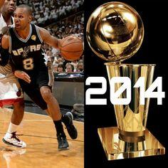 SPURS PATTY MILLS 2014 NBA CHAMPION